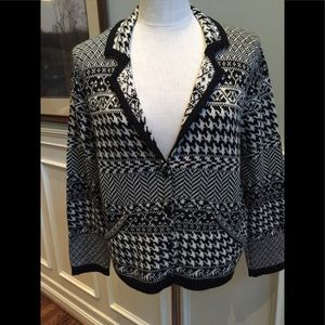 Coldwater Creek black and white cardigan sweater.